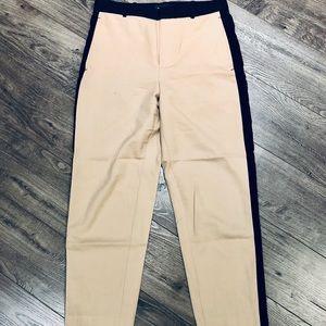 Club Monaco Tan Tuxedo Trousers with Black Stripe